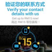 Casino Malaysia Verify and Get RM 15 Now! (2)
