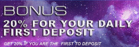 Daily First Deposit 20% Bonus in Deluxe77!2
