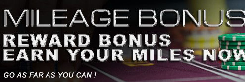 Deluxe77 Casino Mileage Rewards Bonus