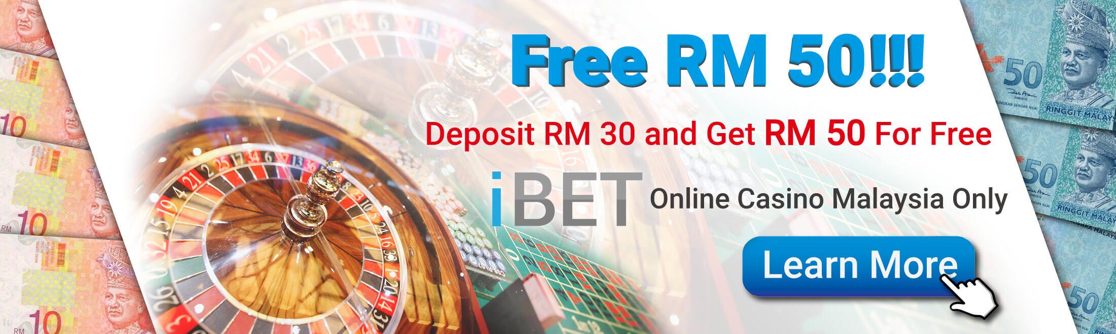 Malaysia online casino Deposit RM30 Free  RM50