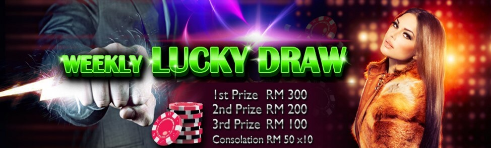 Mudahbet Casino Malaysia weekly Lucky Draw