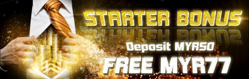 Arena777 Casino Malaysia Starter Bonus Deposit Get Free MYR77