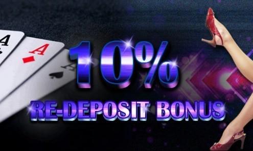 Mudahbet Casino Malaysia 10% Re-Deposit Bonus