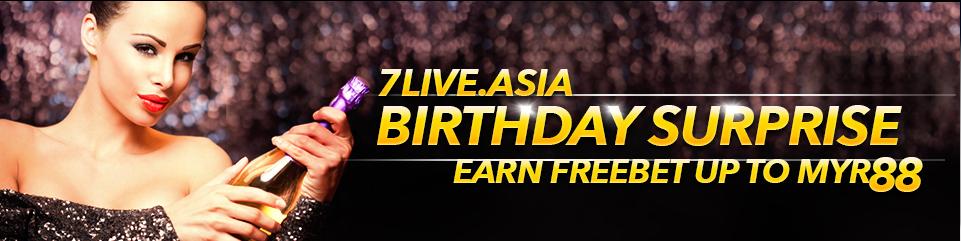 7LIVEASIA Birthday bonus casino malaysia