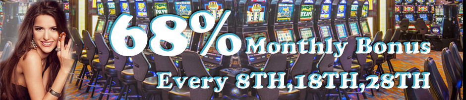 M8 Casino Malaysia 68 Monthly Top UP Bonus