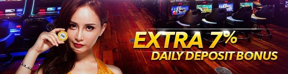 7LiveAsia Casino Malaysia Extra 7% Daily Deposit