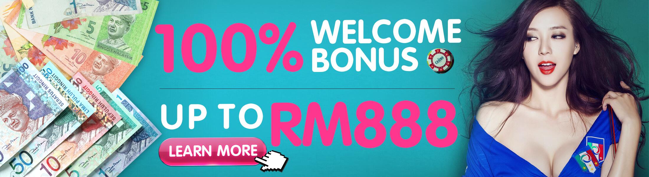 Casino Malaysia Welcome Bonus up to RM888