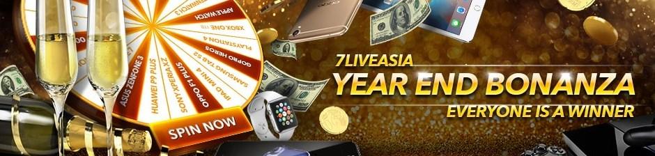 7LiveAsia Casino Malaysia Year End Bonanza