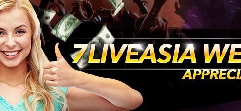 7liveasia Weekly 1% Appreciation Freebet