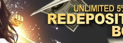 GGWin Casino Malaysia 5% Reload Bonus
