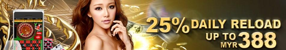 GGWin Casino Malaysia First Daily Reload