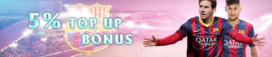 M8 Online Casino Malaysia 5% Top Up Bonus