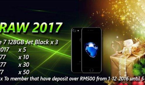 Mudahbet Casino Malaysia Lucky Draw 2017