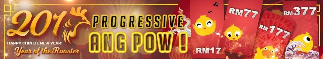Deluxe77 Casino Progressive Ang Pow bonus