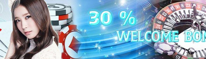 M8 Online Offer 30% Welcome Bonus