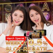Regal88 Casino Weekly up to 0.50% Slot Games Bonus
