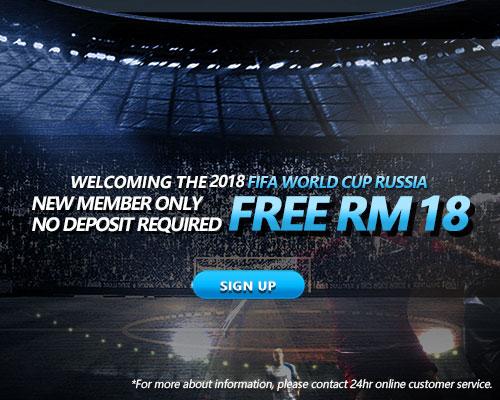 iBET 2018 FIFA New member Free RM18